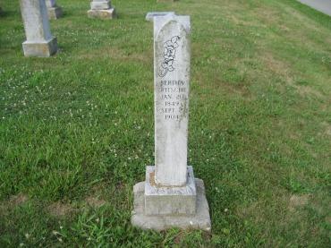 Bertha Fritsche gravestone Salem Farrar MO