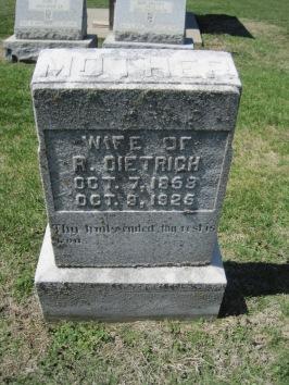 Clara Dietrich gravestone Christ Jacob IL