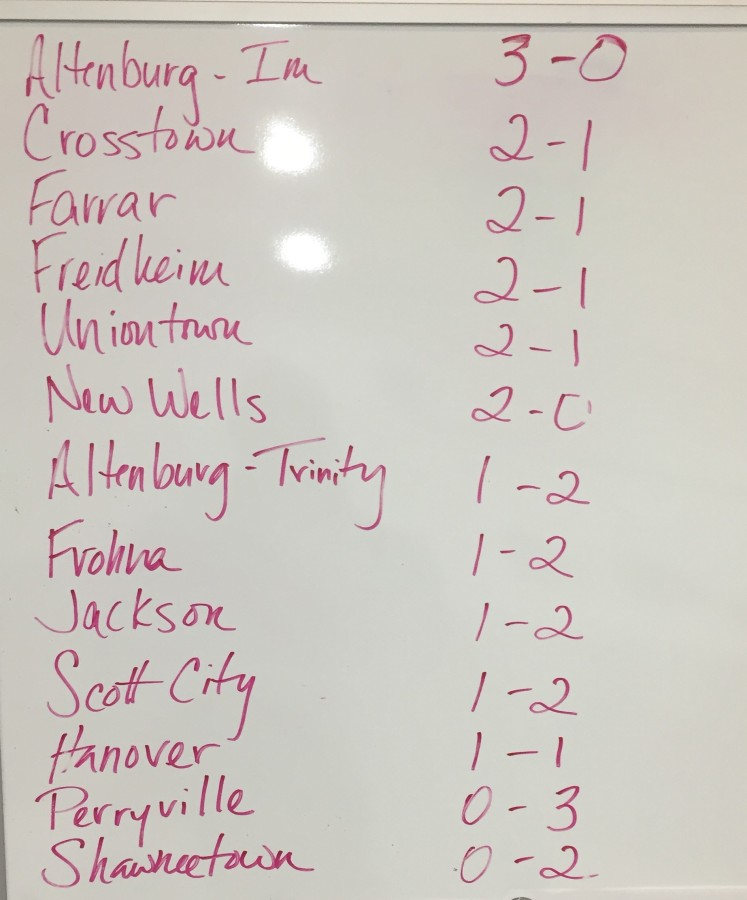 Dartball tourney standings