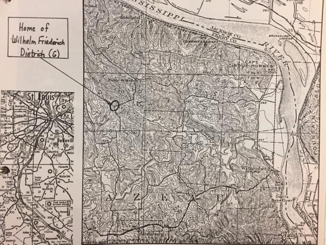 Dietrich land map Altenburg