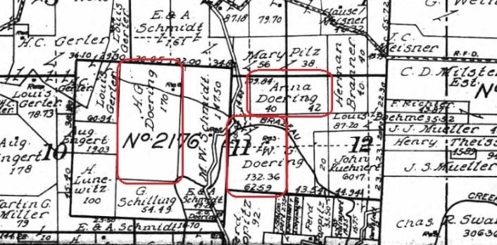 Doering land map 1915