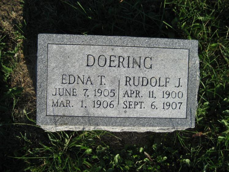 Edna and Rudolph Doering gravestone St. Paul's Wittenberg MO
