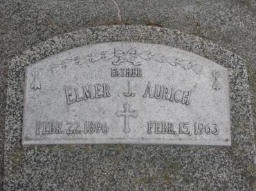 Elmer Aurich gravestone Beemer, NE
