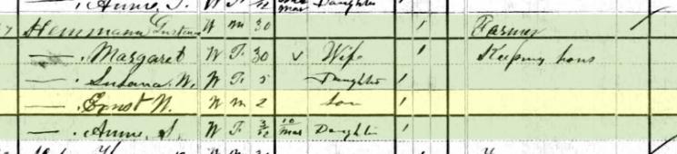 Ernst Hemmann 1880 census Shawnee Township MO