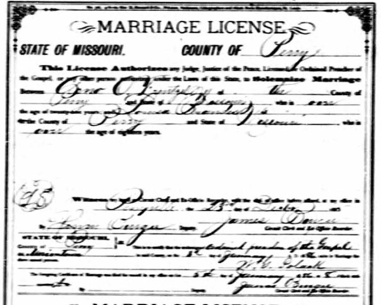 Frentzel Brandes marriage licenst