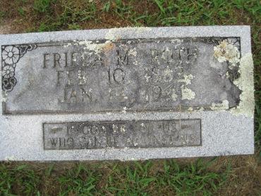 Frieda Roth gravestone Concordia Frohna MO