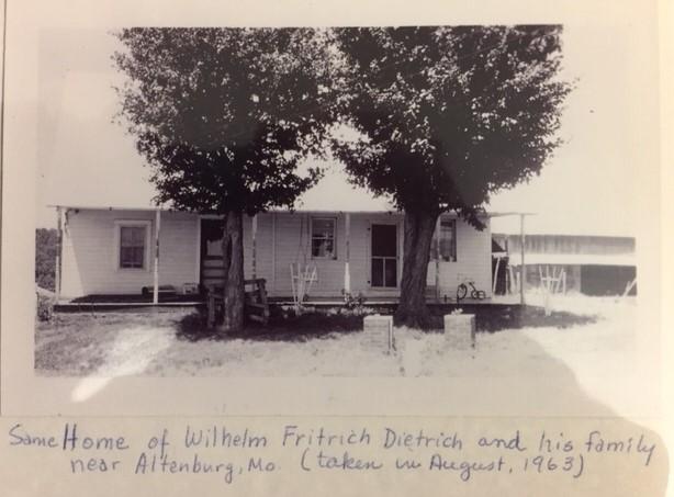 Friedrich Dietrich home 1963 Altenburg