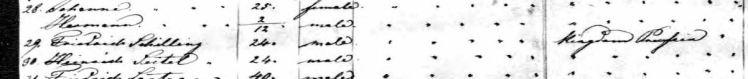 Friedrich Schilling passenger list Bremerhaven Oct 1852