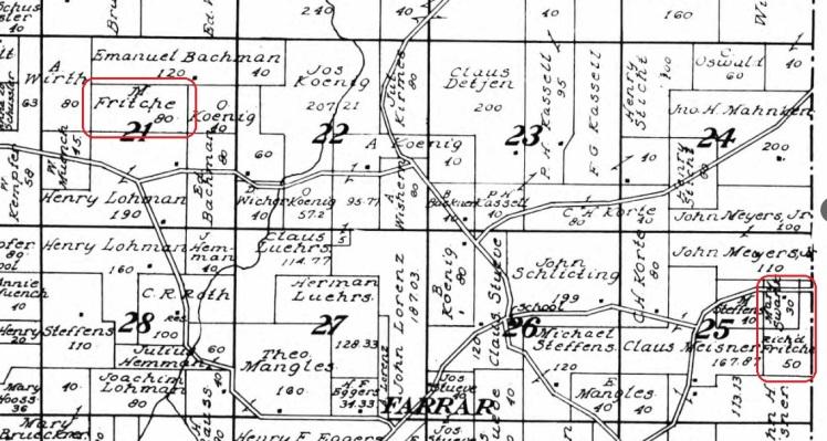 Fritsche land map 1915