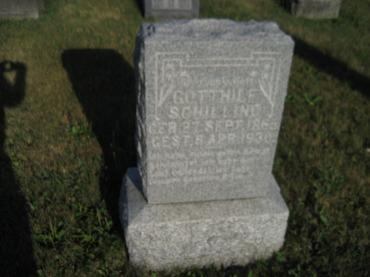 Gotthilf Schilling gravestone St. Paul's Wittenberg MO