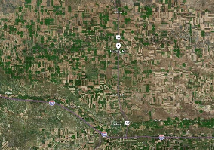 Gurley Nebraska map