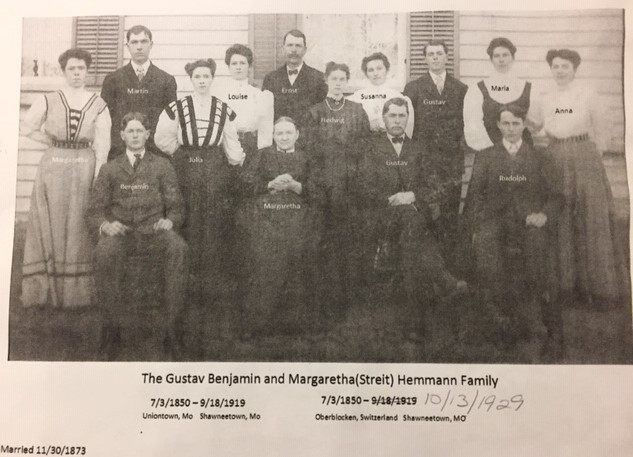 Gustav Hemmann family photo