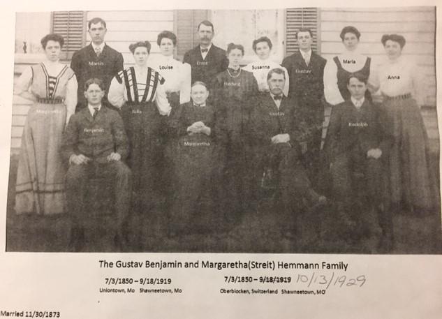 Gustav Hemmann family photo