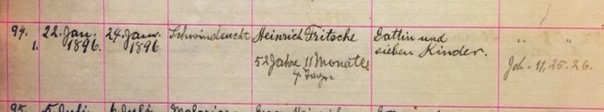 Heinrich Fritsche death record Salem Farrar MO
