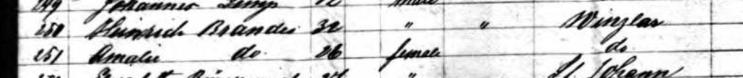 Henry Brandes passenger list Bremen 1859