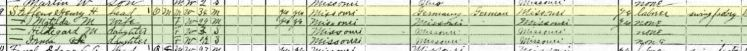 Henry Steffens 1920 census Wittenberg MO