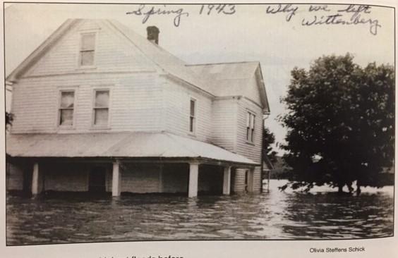 Henry Steffens home in 1943 Wittenberg flood