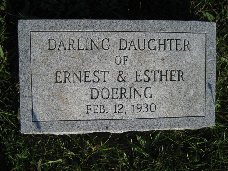 Infant daughter Doering St. Paul's Wittenberg MO