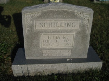 Julia Schilling gravestone St. Paul's Wittenberg MO