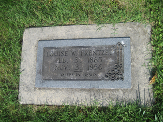 Louise Frentzel gravestone Grace Uniontown MO