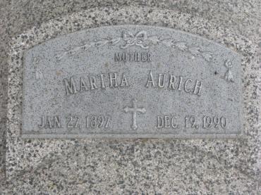 Martha Aurich gravestone Beemer NE