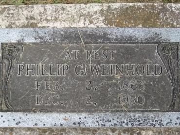Phillip Weinhold gravestone Concordia Frohna MO