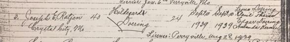 Rathjen Doering marriage record Trinity Altenburg MO
