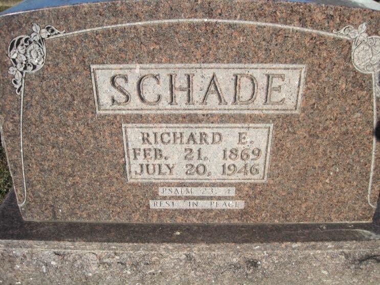 Richard Schade gravestone Immanuel Altenburg MO
