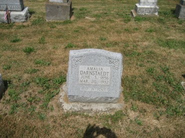 Amalia Darnstaedt gravestone Trinity Altenburg MO