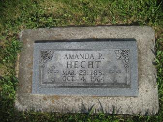 Amanda Hecht gravestone Grace Uniontown MO