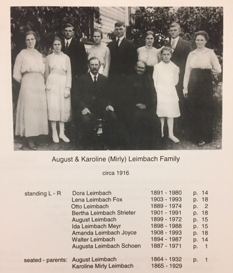 August Leimbach family