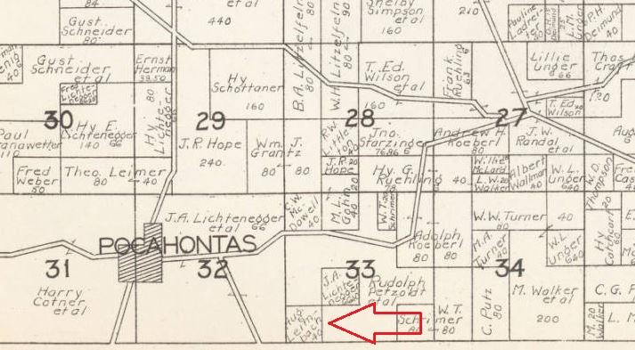 August Leimbach land map 1930