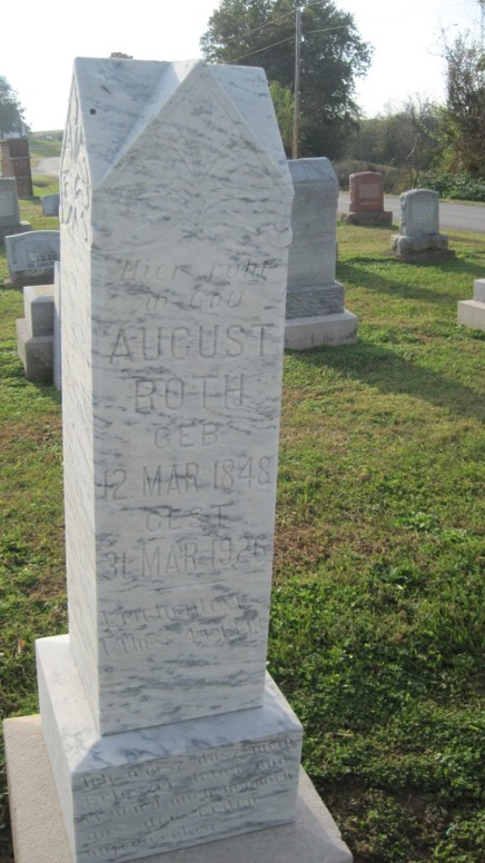 August Roth gravestone Salem Farrar MO