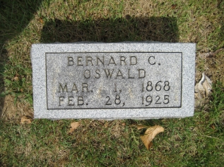 Bernhard Oswald gravestone Zion Crosstown MO