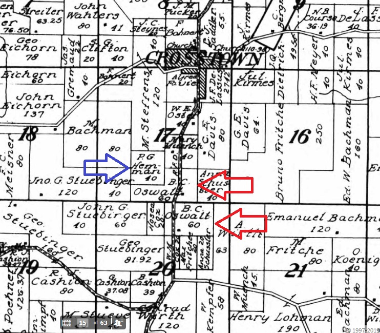 Bernhard Oswald land map 1915