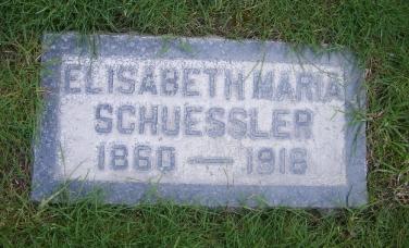 Elizabeth Schuessler gravestone Fairhaven Memorial Park Santa Ana CA