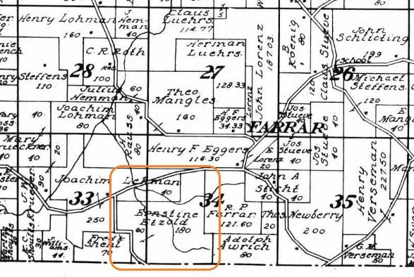 Ernestine Etzold land map 1915