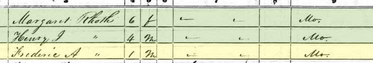 Friedrich Roth 1850 census Brazeau Township MO