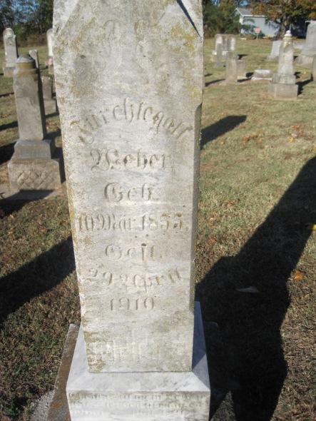 Fuerchtegott Weber gravestone Immanuel Altenburg MO