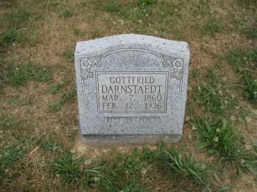 Gottfried Darnstaedt gravestone Trinity Altenburg MO