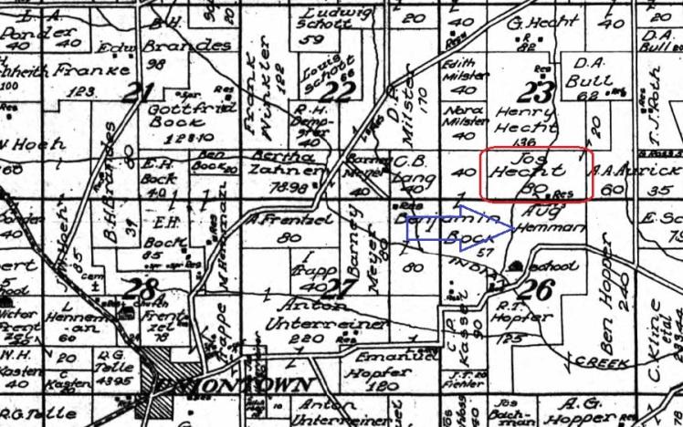 Hecht Hemmann land map 1915