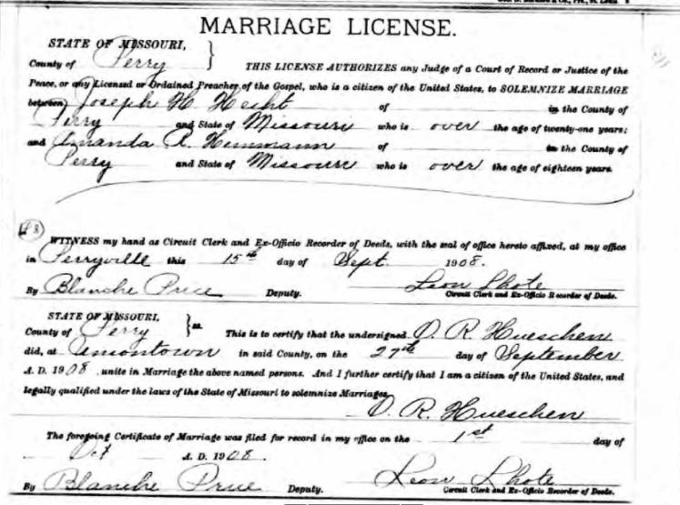Hecht Hemmann marriage license