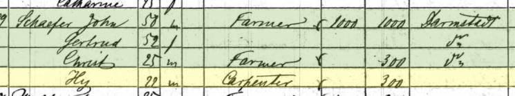 Heinrich Schaefer 1860 census Apple Creek Township MO