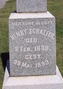Heinrich Schaefer gravestone 2 Jackson Cemetery Jackson MO