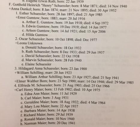 Henry Schuessler family record 1 Schuessler binder