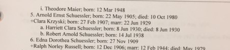 Henry Schuessler family record 2 Schuessler binder