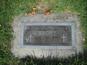 Joseph Hecht gravestone Grace Uniontown MO
