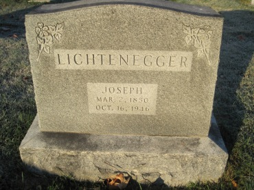 Joseph LIchtenegger gravestone St. John's Pocahontas MO