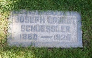 Joseph Schuessler gravestone Fairhaven Memorial Park Santa Ana CA