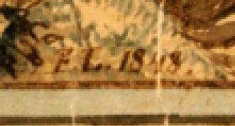 Loeber parsonage painting Friedrich Lochner signature